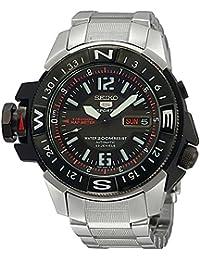 Seiko SKZ229K1 - Reloj de Caballero movimiento automático con brazalete metálico negro