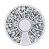 Aiming Cristal AB Nail Art Decoration Rueda de Rhineston tamaños de la Mezcla Clavo del Brillo de Perlas de 3D DIY Belleza Accesorios de Herramientas de uñas