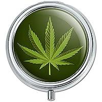 Marijuana Leaf Design Cannabis Topf Pille Fall Schmuckkästchen Geschenk-Box preisvergleich bei billige-tabletten.eu
