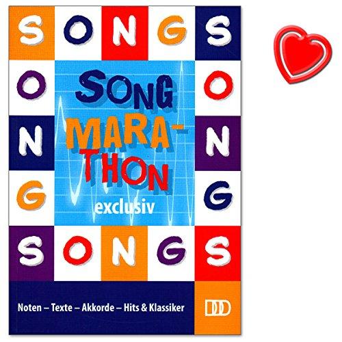 Song-Marathon Exclusiv - Liederbuch von Dietrich Kessler - Noten - Texte - Akkorde - Hits a Klassiker - Buch mit bunter herzförmiger Notenklammer (Red Rock Go Lange)