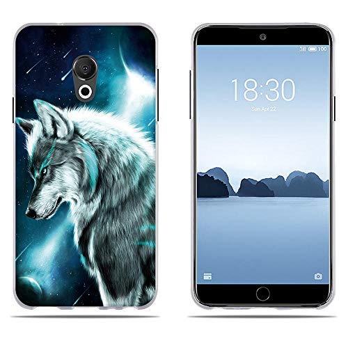 DIKAS für Hülle Meizu 15 Lite/ M15, Qualität Muster Transparentes Silikon TPU Art- und Weisekreatives 3D zeitgenössisches Abdeckungs-Telefon-Kasten für Meizu 15 Lite/ M15 (5.46