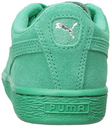 Puma High Risked Black White Suede Youths Trainers Simply Green-Simply Green