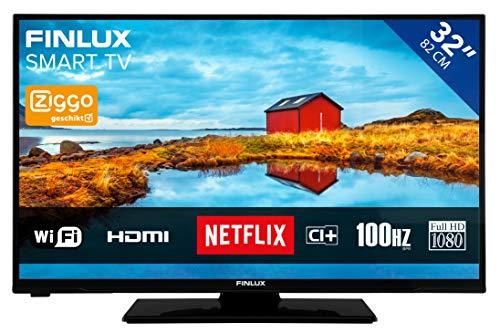 Finlux FL3226SF - Fernseher 32 Zoll (81cm) Full HD TV | Smart TV mit integrierte WLAN/WiFi | Triple Tuner | LED Bildschirm | Fernbedienung enthalten (Smart Tv 32 Zoll 1080p)
