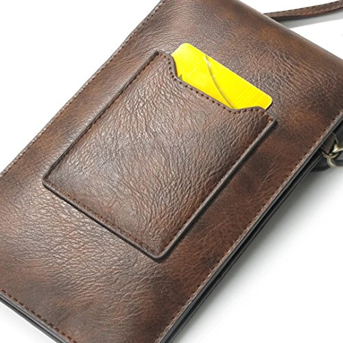 iPhone Case Cover Rhino Texure Motif Satchel avec Sangle Multifonctionnelle Housse Etui pour Samsung Apple Mobile ( Color : Yellow , Size : 18*10.5cm ) Rose