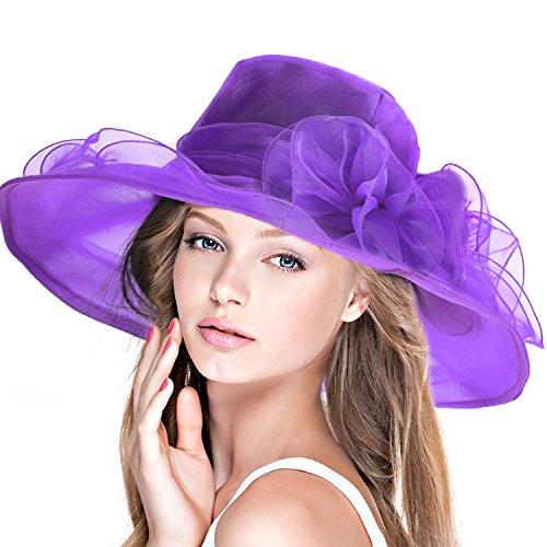 E  leggero come una piuma questo cappello da cerimonia a tesa larga in  cinque colori realizzato in elegante organza satin. Dona una sensazione di  freschezza ... b661b1f5ec37