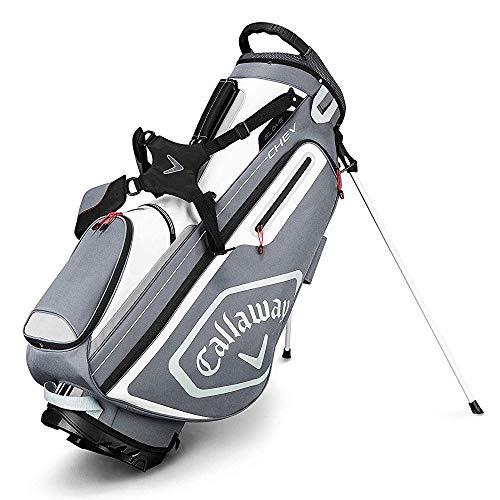 Callaway Chev Bolsa para Palos de Golf, Hombre, Titanio/Blanco/Plata, Talla Única