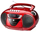 Dual P 65 Portable Boom Box (Radio FM, lettore CD, kassettenabspieler, AUX IN INGRESSO AUDIO)