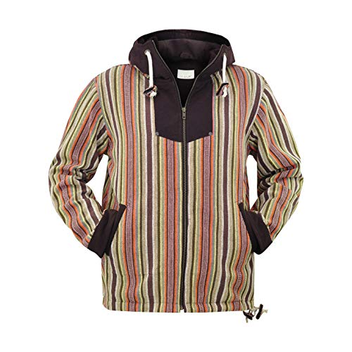 virblatt - Baja Hoodie Herren und Hippie Jacke Alternative Kleidung - Amsterdam Gll - Baja Pullover Hoodies