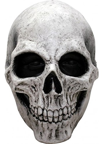 Adult Halloween Deluxe White Skull Maske