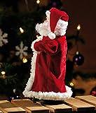 """infactory Weihnachtsartikel: Singender, tanzender Weihnachtsmann """"Swinging Santa"""", 28 cm (Tanzender Weihnachtsmann mit Musik) - 3"""