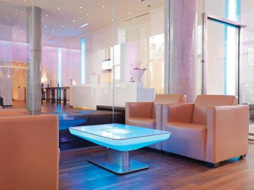 moree LED Lounge Tisch Studio LED Pro Accu 45 Weiß Edelstahl IP20 | LEDs fest verbaut 13W 234lm...