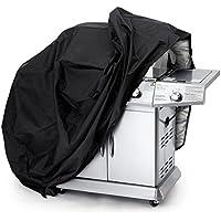 Copribarbecue Telo Copri Barbecue Gas Awnic Telo di Copertura per Barbecue 145cm Resistente Impermeabile Anti-UV Anti-Polvere -Nero/Argento