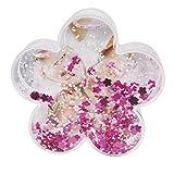 Dorr blumenförmigen Snow Globe mit Schwebe Pink Blumen und Schnee Bilderrahmen