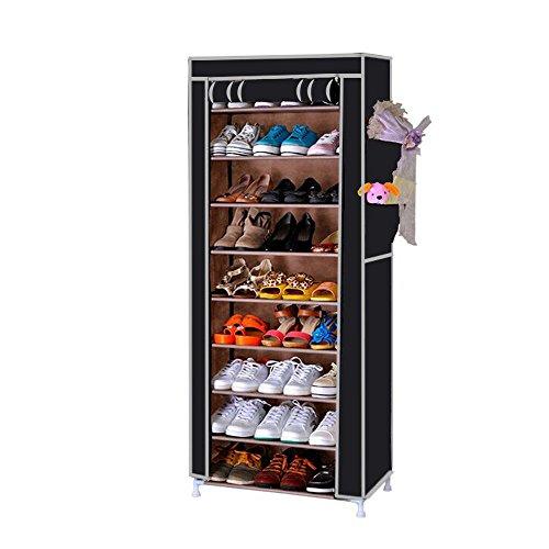 armoire-etagere-dressing-en-tissus-pour-chaussures-58x28x160cm-n3-noir