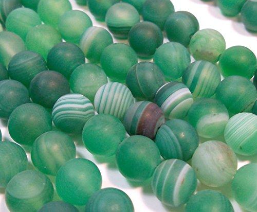 Indische Achat Perlen 8mm Matt Grün Rund Edelsteine Halbedelstein Edelstein Achat Stein Schmuck Kette Armband Agate Gemstone Beads G738 x2