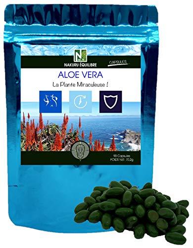 Aloe Vera   90 cápsulas de 780mg   NAKURU Equilibrio   Analizado y acondicionado en Suiza   La Planta Milagrosa!