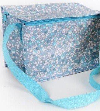 Shabby Chic Vintage Blu Ditsy Floreale Ermetica Borsa Termica Porta Pranzo
