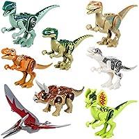 Yosemy Dinosaurios de Juguete, Dinosaurios Bloques de Construcción, Juguetes Niños Coleccionable Cumpleaños Regalo Juguete, Multicolor 8 Pieza - Peluches y Puzzles precios baratos
