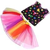 MagiDeal Fun Circus Clown Girls Costume Spotted Tops Tutu Lace Dress Book Week Fancy Dress - B076T25V2V