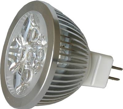LED MR16 Strahler 12V 4W (440 Lumen - 50 Watt Equivalent) Halogen Ersatzlampe 60 Grad 7000K Cool von OLITES auf Lampenhans.de