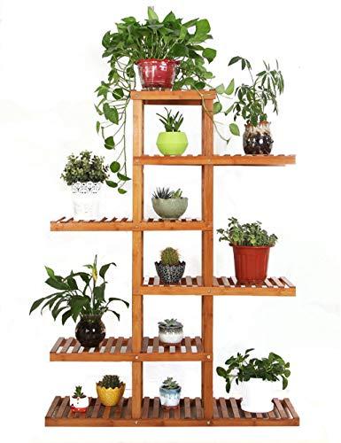 Pflanzenregale Bambus Blumenregal Multifunktions Leiter-Shaped Pflanze Blume Stand Rack Bookrack...