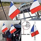 Moto support de mât pour drapeau et 6x 9Drapeau France pour Honda Goldwing CB VTX CBR Yamaha Harley Davidson