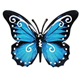 Pfronten Schmetterling Wandschmuck aus Metall metallicfarben Wetterfest 17cm