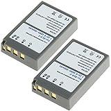 2x CELLONIC® Batterie premium pour Olympus Stylus 1 OM-D E-M10 E-450 Pen E-PL5 BLS-5 Pen E-PM2 Pen E-PL6 (900mAh) BLS-5 Batterie de recharge, Accu remplacement
