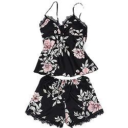 Femmes Ensembles de Pyjama de Soie Top de Dentelle Vêtements de Nuit Ensemble de Vêtements Cami Top Pyjama Sets Covermason