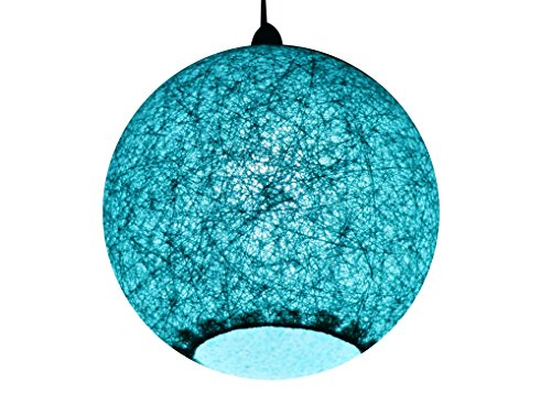 Salebrations Hanging Ball Lamp Shades With Yarn