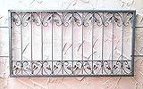 Fenstergitter Schmiedeeisen Ziergitter Einbruchschutz Monaco-Z80/150 Verzinkt