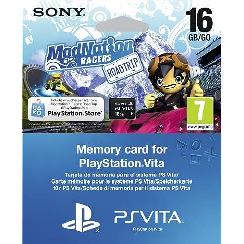 PlayStation Vita - Memory Card 16 GB con ModNation Racers (via (Mod Memoria Di Sistema)
