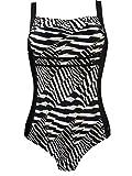 Naturana Badeanzug ohne Bügel 73123, 42D, schwarz weiß sahara