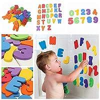 hengbaixin 36PCS Baby Kids Alphabet Number Stick Bath Toy A-Z 0-9 Foam Letters Numbers Bath Tub Puzzle Stick Toy Color Random
