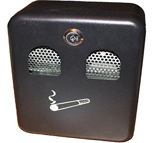 Fixation Murale verrouillable Cendrier d'Extérieur en métal avec revêtement Cigarette Ash Poubelle avec verrou