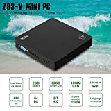 Z83-V Mini PC Intel x5-Z8350 Multi Media Desktop 2GB+32GB 4K HD 1000Mbps BT4.0 Smart Mini PC Dual WiFi 2.4G+5.8G Mini PC mit LED unterstützt Windows/Linux OS