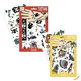 Djeco Tattoo Set für freche Jungs/Kindertattoo / Tattoo Set Buntes Design für Kinder ab 3 Jahre/Spielen