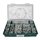 Sortiment DIN 571 Edelstahl A2 Schlüsselschrauben Durchmesser 8,0 mm, 360 Teile ; Sechskant / Holzschrauben inc. Scheiben, Material VA V2A