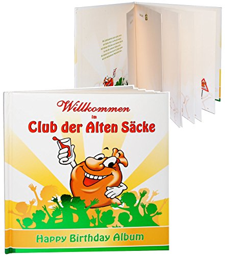 alles-meine.de GmbH Geburtstag -  Willkommen im Club der Alten Säcke  - Erinnerungsalbum / Fotoalbum - Gebunden zum Einkleben & Eintragen - Album & Erinnerungsbuch - Fotobuch /..