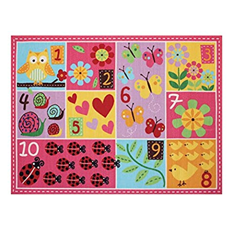 Teach Me Number Learning Carpets Educational Play Mat Cute Animal Bedding Area Rugs, 40