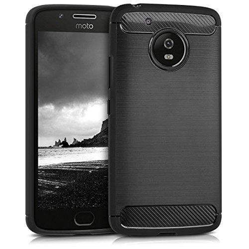 kwmobile Motorola Moto G5 Hülle - Handyhülle für Motorola Moto G5 - Handy Case in Anthrazit