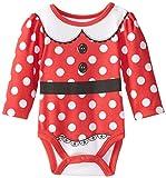 Disney Baby-Girls Newborn Minnie Mouse Creeper, Red, 3-6 Months