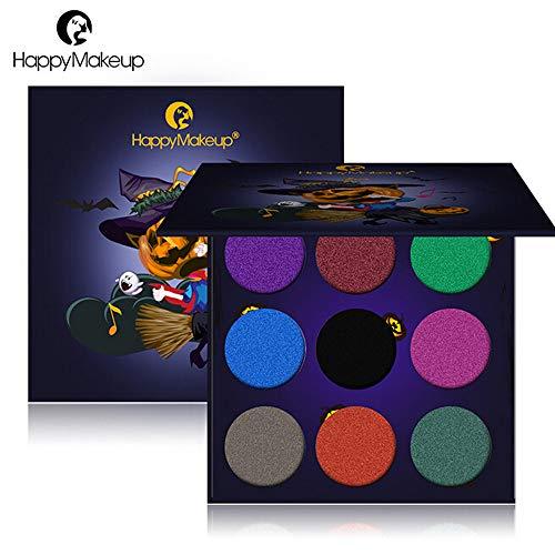 SMILEQ® Halloween Kürbis Kopflidschatten Körper Gemalte Platten Vogelscheuche Geister-Partei (2 x, Multicolor)