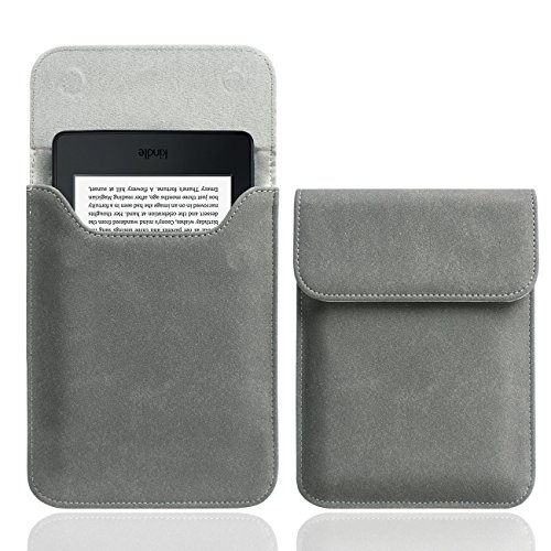 WALNEW 6'' Kindle Sleeve Case Ultra Light and Slim Protective Pouch Carrying Bag for Kindle, Kindle 4/5, Kindle Paperwhite, Kindle Touch, Kindle Voyage, Gray