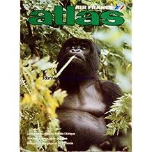ATLAS AIR FRANCE du 01/10/1982 - AIR FRANCE LE RWANDA - CHATEAU FORT DE L'AFRIQUE - TERRE DE FRANCE - TERRE DES VINS - IMAGES DE NORVEGE ET DE FINLANDE