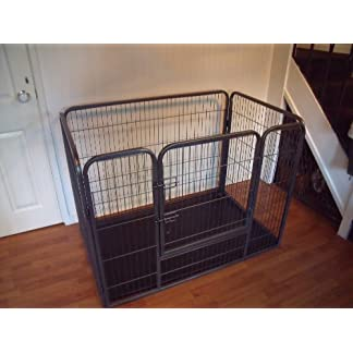 BUNNY BUSINESS Heavy Duty Dog Cage Crate Whelping Pen with Welded Side Pins BUNNY BUSINESS Heavy Duty Dog Cage Crate Whelping Pen with Welded Side Pins 51V2SXSKadL