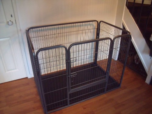 BUNNY-BUSINESS-Heavy-Duty-Dog-Cage-Crate-Whelping-Pen-with-Welded-Side-Pins