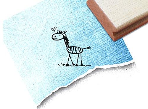 Stempel - Kinderstempel ZEBRA Zottel ♡ (klein) - Niedlicher Motivstempel für groß und klein, passt auch zur Einschulung in jede Schultüte - von zAcheR-fineT