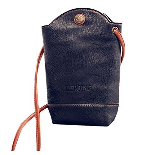 DAY.LIN Damen Frau Crossbody Umhängetasche Handy-Paket Frau Kuriertaschen Schlanke Crossbody Umhängetaschen Handtasche Kleine Körper Taschen (Schwarz)