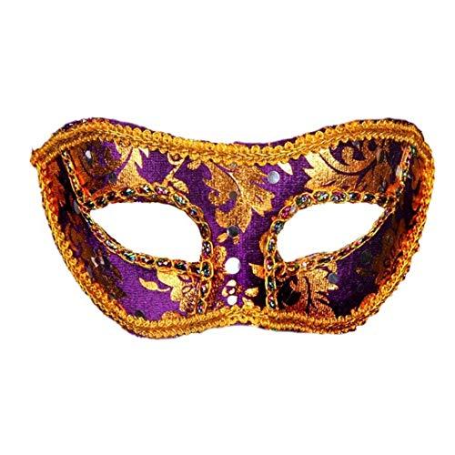 Shuangklei Flachkopf Bestickt Spitze Holloween Tuch Bedeckt Mit Flachen Kopf Paste Ball Maske Festival Maske Party Maske